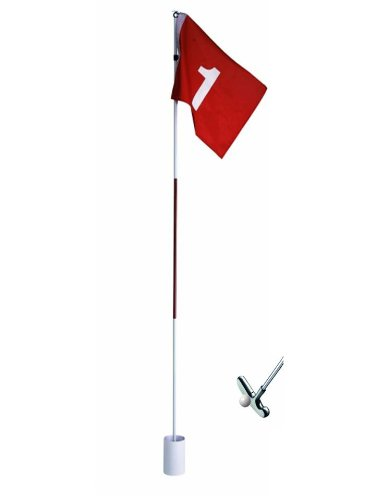 CEBEGO® Komplettset Golfloch, Golffahne,Putter,Golfball/Golftraining Zuhause Complete,Golfgeschenke Golfzubehör Golfschläger Training Indoor Outdoor,Put-Training