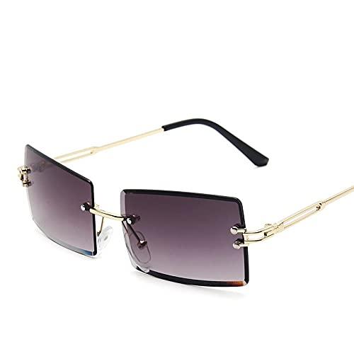 Gafas De Moda Gafas De Sol Gafas De Sol Retro Moda para Mujer Gafas De Sol Gradiente Sin Montura Sombras Vintage C1