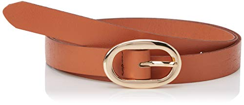 PIECES Pcana Leather Jeans Belt Noos Cinturón, Marrón (Cognac), 95 (Talla del fabricante: 80) para Mujer