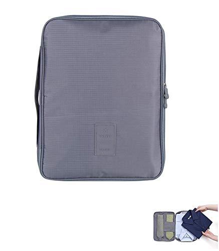 Ducomi® Cloonie Organizer da Viaggio per Camicie e Cravatte (Grey)