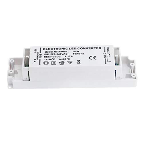 JRXyDfxn 12 Volt DC LED Stromversorgung Fahrer-Transformator-Spg.Versorgungsteil-Fahrer für LED-Licht Computer-Projekt Outdoor-Licht 50W Weiß