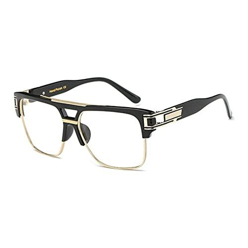 JWYing Classic Luxury Men Sunglasses Glamour Fashion Brand Gafas de Sol para Mujer Retro Retro Vintage Cuadrado Cuadrado Sombras (Lenses Color : C08)