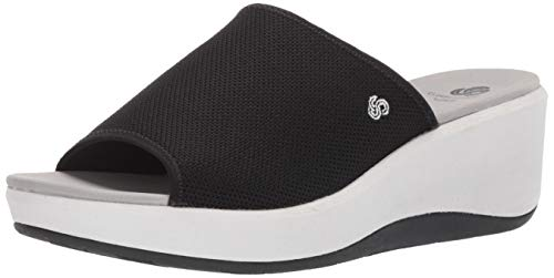 top rated Clarks Step Calibay Women's Sandals, Black Textile Knit, 100m US 2020