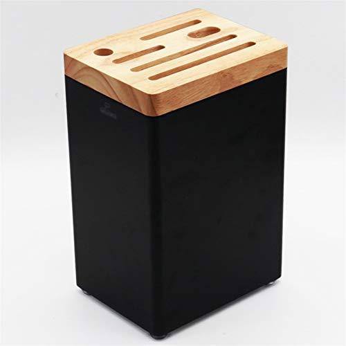 Porte-Couteaux Vide Couteau rack Bloc for support Ustensile, économiseur d'espace de couteaux Rangement, Rangement pratique for couteaux grands et petits Blocs couteaux (Color : Black)