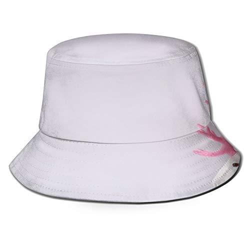TTLUCKY Fishing Hat,White Reindeer Glitter Pink Antlers Minimal,Hiking Boonie Safari Sun Caps Traveling for Men&Women for Outdoor Gardening
