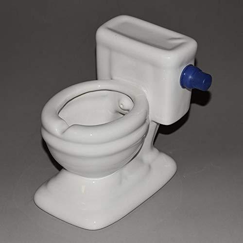 posacenere CDFSG personalità Moda Toilette Flushing Regalo Divertente per Il Fidanzato Cenere Vassoio 125 * 85 * 115mm Blu