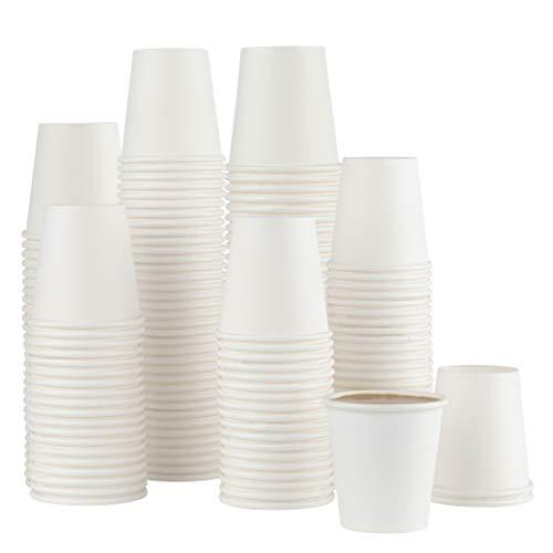 Juego de 500 tazas de café desechables de papel para baño, espresso, enjuague bucal, enjuague bucal, tazas