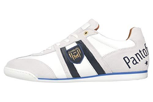 Pantofola d'Oro Imola Scudo NB Uomo Low Sneaker in Übergrößen Weiß 10201047.1FG/10201071.1FG große Herrenschuhe, Größe:48