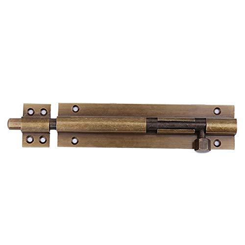Cerradura de perno de cobre para puerta, pasador de piso de puerta doble antiguo, perno de puerta de bronce-12 pulgadas * 30 cm * color cobre brillante