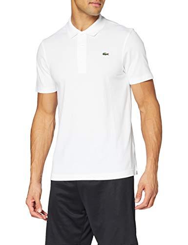 Lacoste Herren Sport, Poloshirt L1230-00, Einfarbig, Weiß (WHITE 001), Gr. Large (Herstellergröße: 50)(T5)