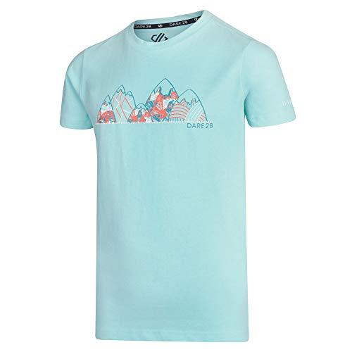 Dare 2b Shirt Junior 100% Coton Frenzy Tee Mixte Enfant, Aruba Blue, FR : M (Taille Fabricant : 9-10)