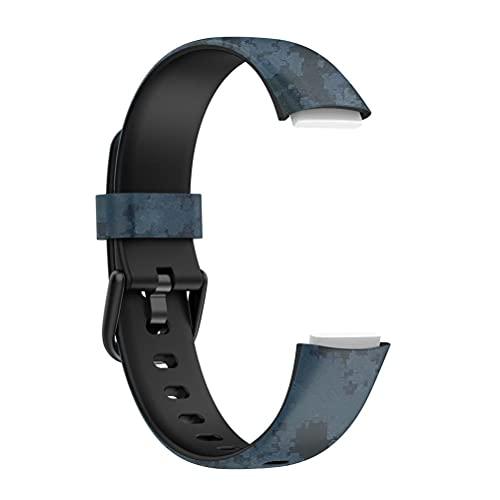 Correa Compatible con la Correa Fitbit Luxe, muñequeras Deportivas de Repuesto Suaves y Ajustables para el rastreador de Actividad Fitbit Luxe/el rastreador de Bienestar Fitbit Luxe Mujer Hombre