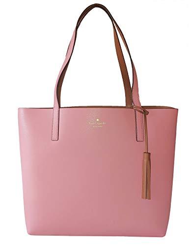 Kate Spade Marina Lakeland Drive Reversible Leather Tote Bag in Pink/Brown