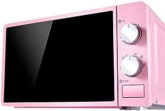 JINRU 20L Pequeño Horno De Microondas Multifuncional 220V Mecánico Giratorio Calentador De Cocina Cocina para Vapor/Calefacción/Ebullición,Rosado