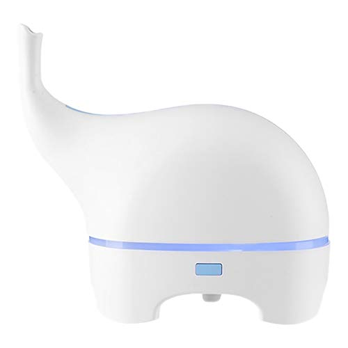SNOWINSPRING USB Funny Elephant Ultraschall ?Therisches ?L Diffuser Farbe LED Humidificador Tragbarer Luftbefeuchter Fogger Wei?