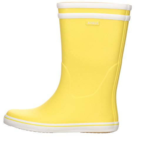 Aigle Malouine 247934 Stivali da Pioggia da Donna, Giallo (Gelb (jaune/blanc)), 38 EU