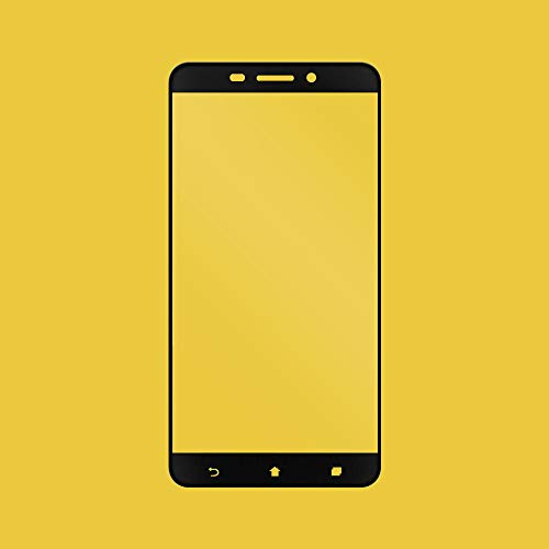 Asus ZenFone 3 Laserglas-Displayschutzfolie, transparent, Anti-Fingerabdruck, ultradünn, 9H, volle Abdeckung, seidenmatt, Schwarz für Asus ZenFone 3 Laser ZC551KL Z01BDC Z01BDB Z01BDA