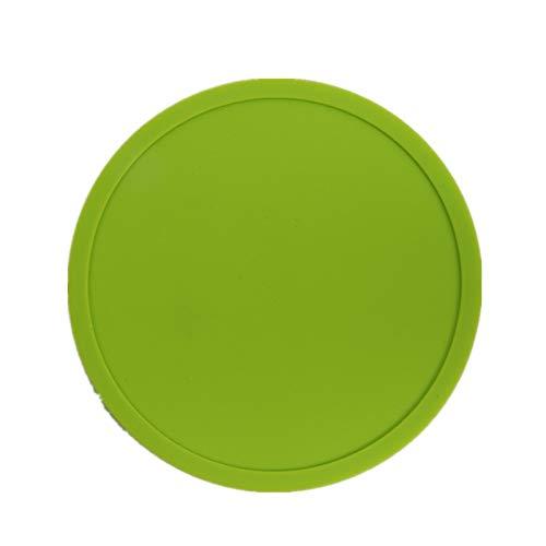 ZLDDE 10 PCS Drink Rutschfestes Silikon Untersetzer leicht zu reinigen und hinterlassen Keine Flecken mit guter Griffigkeit gut für heiße und kalte Getränke Teetasse Matte(Mehrfarbig) Grün A