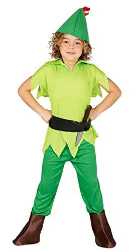 Guirca 82740 Déguisement Arciere Peter Pan Vert 3/4 Ans