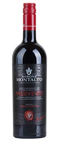 6x 0,75l - 2018er - Barone Montalto - Passivento - Rosso - Terre Siciliane I.G.T. - Sizilien - Italien - Rotwein halbtrocken