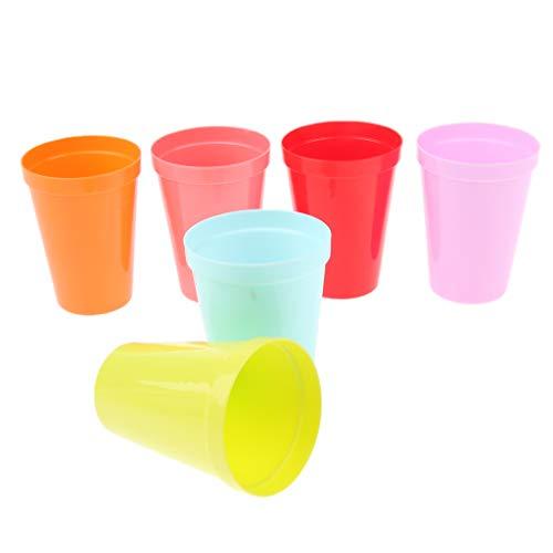 SM SunniMix 6pcs Kunststoff Tassen Plastik Kaffee Becher Wasserbecher Tee Tassen für Reisen, Camping, Picknick, BBQ, Angeln