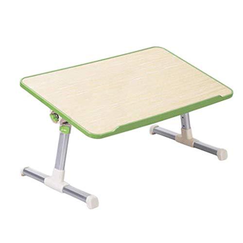 O&YQ Gateleg Tisch/Klapptisch Klapptisch Bett Laptop Tisch Einfach Lazy Tisch Multifunktionskühlung Startseite Essen Kinder Einfach Lernen Mini Grün, Fanless