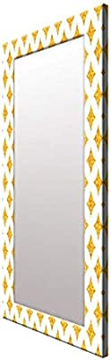 999Store Printed Gold zid zad Pattern Mirror