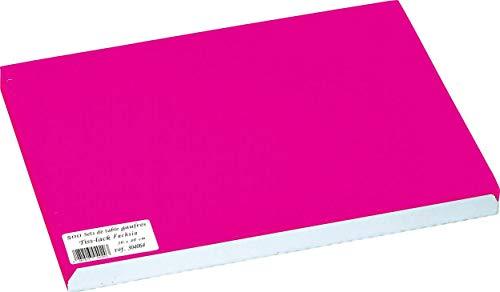 Pro Nappe - Réf 304064I - Set de Table jetable en Papier gaufré et satiné - Format 30X40 cm - Couleur Rose Fuschia - Fabriqué en France - en barquette de 500 Sets.