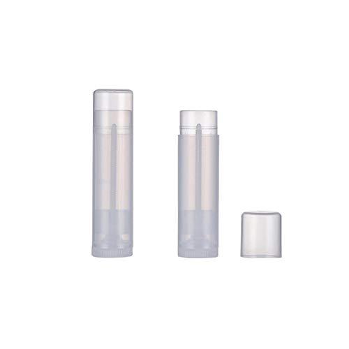 0.7oz / 20ml 10 Uds.Envases vacíos de Desodorante PP sin BPA Tubos Recargables de plástico retorcidos para Desodorante de Bricolaje, bálsamo de talón, loción (Transparente)