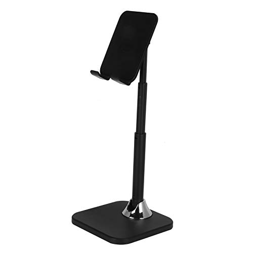 LANTRO JS - Foldable Cell Phone Stand, Anti-Slip Angle Height Adjustable Cell Phone Holder, Tablet Stand, Compatible with All Mobile Phone/Pad/Kindle/Tablet(Negro)