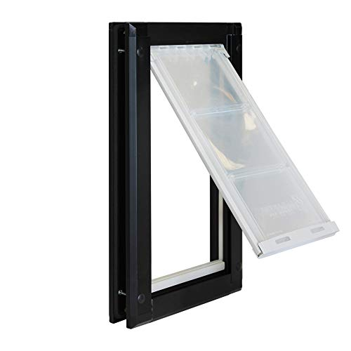 Endura FlapSingle Flap Door Mount Pet Door - Large Flap (10' x 19'), Sturdy Aluminum Black Frame