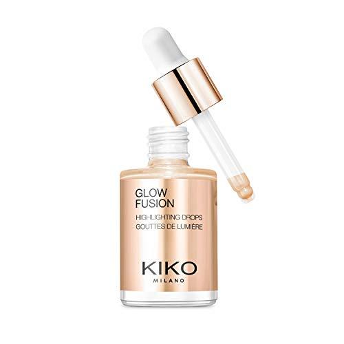 KIKO Milano Glow Fusion Highlighting Drops | Flüssiger Highlighter für das Gesicht Mit Metallic-Finish
