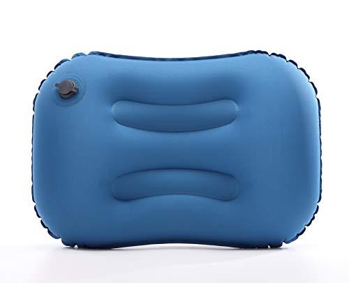 NALCY Almohada Inflable, Almohada Hinchable, Almohada de Viaje Inflable, Almohada Inflable Ultraligera, Compresible, Plegable, Hinchable Pillow para Camping, Viaje, Exterior (Azul)