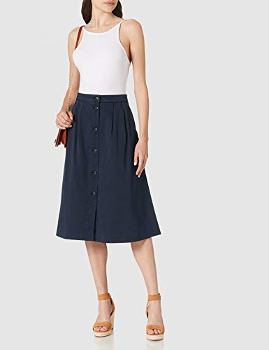 Tommy Hilfiger CO Modern Chino Midi Skirt Falda, Cielo del Desierto, 36 para Mujer