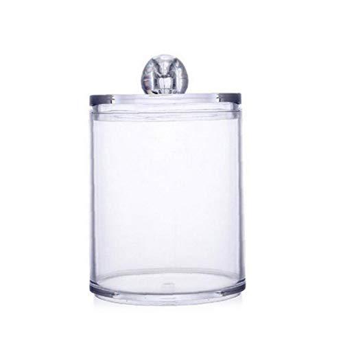 lulongyansf Dispensador De Jar Jar Titular De Baño De Almacenamiento De Plástico Transparente para La Esponja De Algodón Transparente De Almacenamiento Caja a Mano Artículos