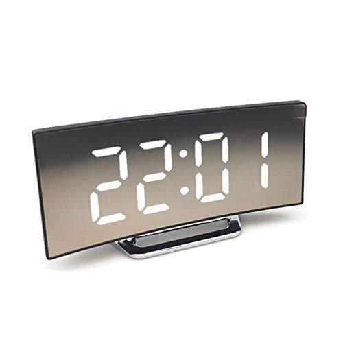 Wecker Alarm Clock Digitaler Wecker Schreibtisch Tischuhr Gebogene Led-Wecker Für Kinder & Erwachsene Schlafzimmer Funktion Home Decor