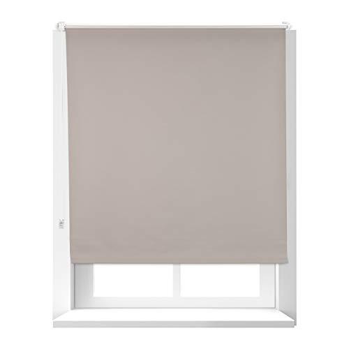 Relaxdays Estor Opaco Térmico sin Taladrar, Poliéster-Aluminio-Plástico, 160x106 cm, Marrón