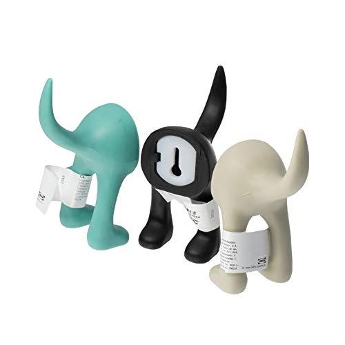 Ikea BASTIS Wandhaken Hundeschwanz türkis beige schwarz 12 cm je 1 Stück