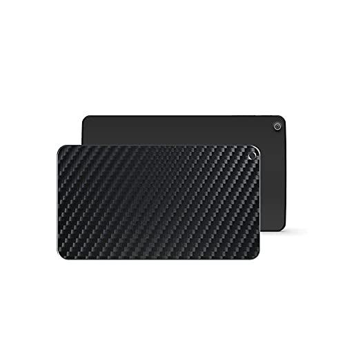 VacFun 2 Piezas Protector de pantalla Posterior, compatible con NVIDIA SHIELD K1 8', Película de Trasera de Fibra de carbono negra Skin Piel