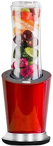 YQGOO Mélangeur 300 W, Mini mélangeur Personnel Portable pour Aliments Milkshake Juicer sans BPA, Bouteille de Sport 600 ML en Option, Un broyeur de 100 ML et Une Tasse de 400 ML, Rouge