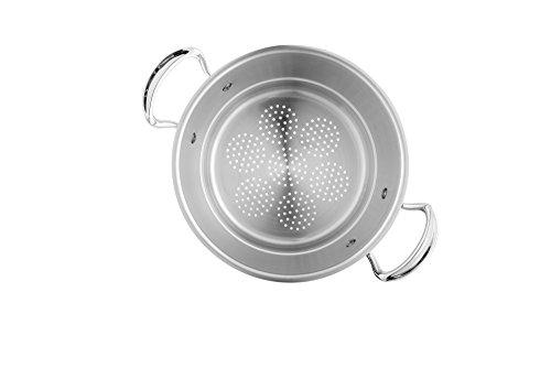 Mauviel M'Cook Dampfgarer-Einsatz, 5-lagig, Edelstahl, 20,3 cm, Griff aus gegossenem Edelstahl