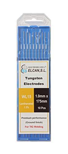 ELCAN Tungstenos soldadura TIG Lantano 1,5% Oro Dorado WL15 profesional, electrodos soldadura...