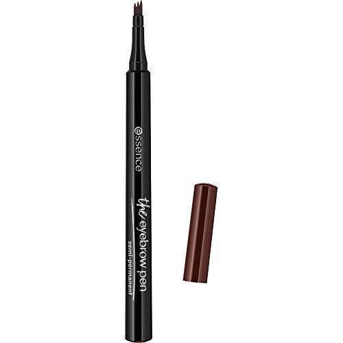 essence the eyebrow pen, Nr. 04 dark brown, braun, natürlich, vegan, Nanopartikel frei, ohne Parfüm (1,1ml)