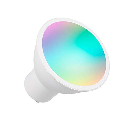 OWSOO Lampadina WiFi Intelligente RGB + W + C Lampadina LED 5W GU10 Telecomando dimmerabile App Telecomando Compatibile con Alexa Google Home Tmall Elf per Controllo vocale, 1 Confezione