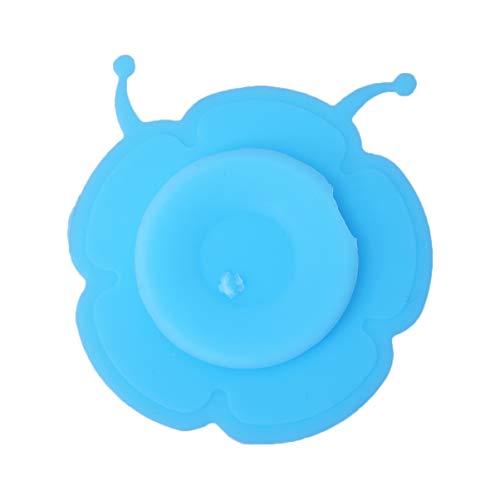 UPKOCH 4 STK. rutschfeste Silikon-Saugnapfschale zum Füttern von Babys (Blaue Schnecke)