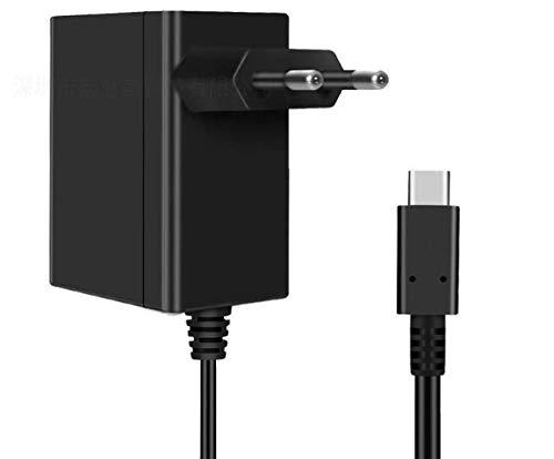Caricatore per Nintendo Switch 15V 2.6A Carica Rapida con Cavo USB Tipo C, Adattatore di Alimentazione Supporta TV Dock Compatibile con Nintendo Switch & Switch Lite
