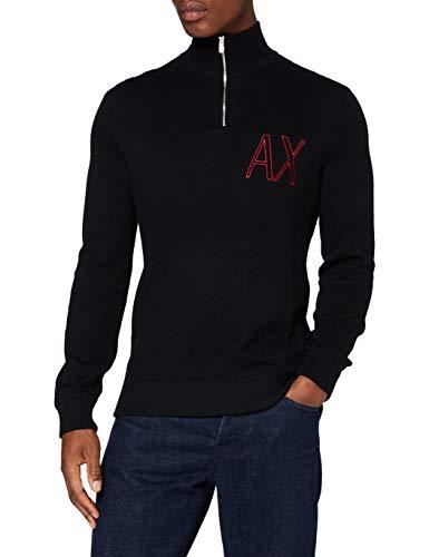 ARMANI EXCHANGE Pullover 1N Maglione, Black, M Uomo