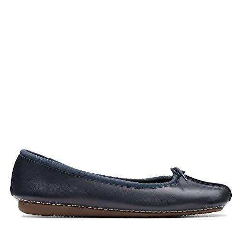 Clarks Freckle Ice, Damen Mokassin, Blau (Navy Leather), 36 EU (3.5 Damen UK)
