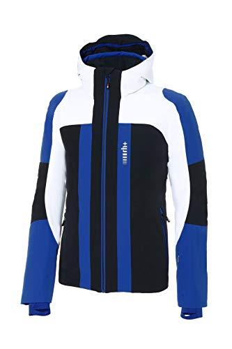 zerorh+ Moos Jacke für Herren; Man; Snow; Jacke für Herren, Herren, INU2768 91BXL, Schwarz/Weiß/Cobalt Blau, XL
