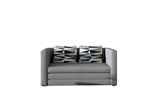 MOEBLO Schlafsessel Sofa mit Schlaffunktion ohne Bettkasten, Couch für Wohnzimmer, Schlafsofa Federkern Sofagarnitur Polstersofa Wohnlandschaft mit Bettfunktion - GULIA (Khaki (Alova 10 + Lima 75))